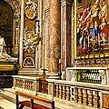 Side Altar In St Peters Basicilca by Jon Berghoff