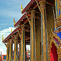 Side Of Royal Temple At Grand Palace Of Thailand In Bangkok by Ruth Hager