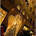 Sidewalk Angel Christmas Card by Nancy De Flon