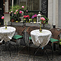 Sidewalk Cafe In Antwerp by Joe Bonita