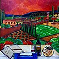 Siena Hillside by Patti Schermerhorn