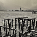 Siglufjordur Old Pier Black And White by For Ninety One Days