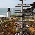 Sign At Point Montara by Carol Groenen