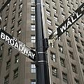Signs For Broadway And Wall Street by Marc Jackson