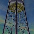 Sikeston Water Tower  II by Debbie Portwood