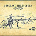 Sikorsky Helicopter Patent Drawing From 1943-vintgae by Aged Pixel