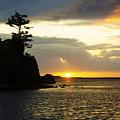 Siletz Bay Sunset Oregon 1 by Bob Christopher