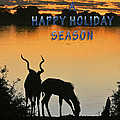 Silhouette At Sunset Holiday Card by Karen Zuk Rosenblatt