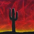 Silhouette Cactus by Dawn Marie Black