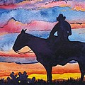 Silhouette Cowboy by Don Hand
