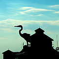 Silhouette Of A Heron by Marilyn Holkham