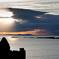 Silhouette Of Dunluce Castle by Semmick Photo