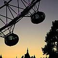Silhouette Of London Eye by Deborah Benbrook
