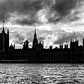 Silhouette Of  Palace Of Westminster And The Big Ben by Semmick Photo