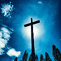Silhouetted Cross by Silvia Ganora