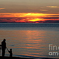 Silhouetted In Sunset At Sturgeon Point Marina by Rose Santuci-Sofranko