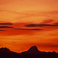 Silhouettes Of Alps by Patrick Kessler
