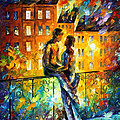 Silhouettes - Palette Knife Oil Painting On Canvas By Leonid Afremov by Leonid Afremov