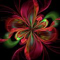 Silk Butterfly Abstract by Georgiana Romanovna