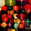 Silk Lanterns In Vietnam by Fototrav Print