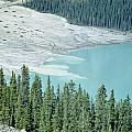 1m3531-silt Entering Peyto Lake by Ed  Cooper Photography