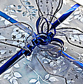 Silver And Blue Wrapped Gift Art Prints by Valerie Garner