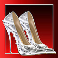Silver And Red High Heels by Legend Imaging