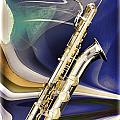Silver Baritone Saxophone Painting Photograph 3458.02 by M K Miller