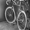 Silver Bike Bw by Jerry Fornarotto