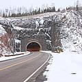 Silver Creek Cliff Tunnel Winter 1 by John Brueske