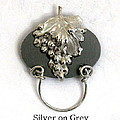 Silver Grapes On Grey by Laura Wilson