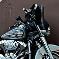 Silver Harley Motorcycle by Imran Ahmed