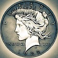 1922 Silver Proof Peace Dollar by Fred Larucci
