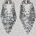 Silver Peyote Earrings by Jennie Breeze
