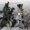 Silver Snowman With Christmas Tree by Thomas Woolworth