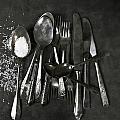 Silverware With Salt by Joana Kruse