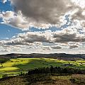 Simonside Hills From Rothbury Terraces by David Head