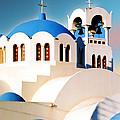 Simple Graphic Greek Church by Elaine Plesser
