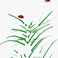 Simply Ladybugs And Grass by Angela Stanton