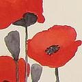 Simply Poppies 1 by Elvira Ingram