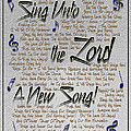 Sing Unto The Lord A New Song by Carolyn Marshall