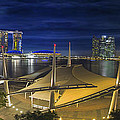 Singapore Central Business District Skyline At Dusk by Jit Lim