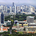Singapore City Aerial View by David Gn