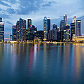 Singapore City Skyline At Blue Hour by Jit Lim