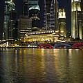 Singapore City Skyline At Night by David Gn