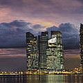 Singapore City Skyline At Sunset Panorama by Jit Lim