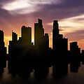 Singapore City Sunset Skyline  by Aged Pixel
