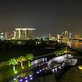 Singapore Night Skyline From Marina Barrage by David Gn