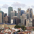 Singapore Skyline Along Chinatown Area by Jit Lim