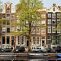 Singel Canal Houses In Amsterdam by Artur Bogacki